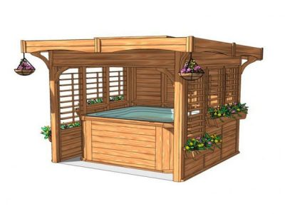 Cedar Gazebos from Pools and Spas Windlesham